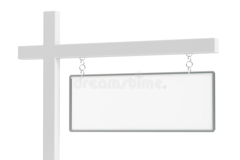 Real Estate in bianco firma, rappresentazione 3D illustrazione di stock