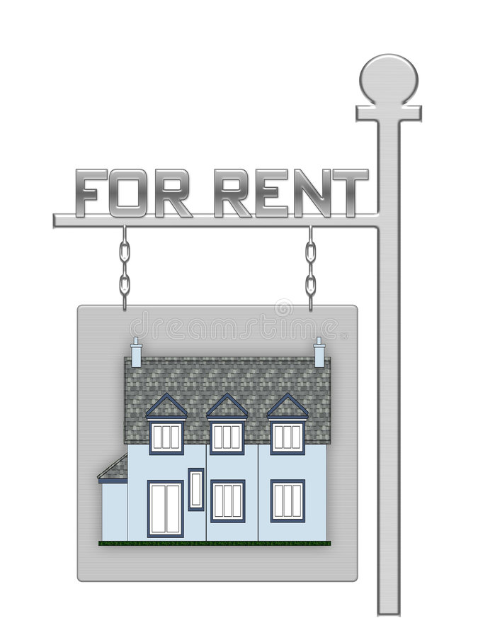 Download Real Estate Board With A House Stock Illustration - Image: 3396188