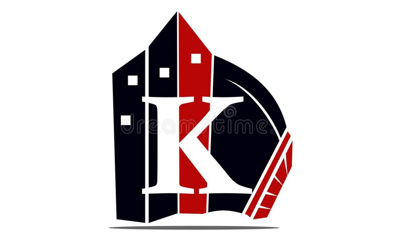 Real Estate-Brief K stock illustratie