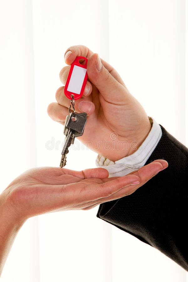 Download Real Estate Broker With A House Key Stock Photo - Image: 9892996