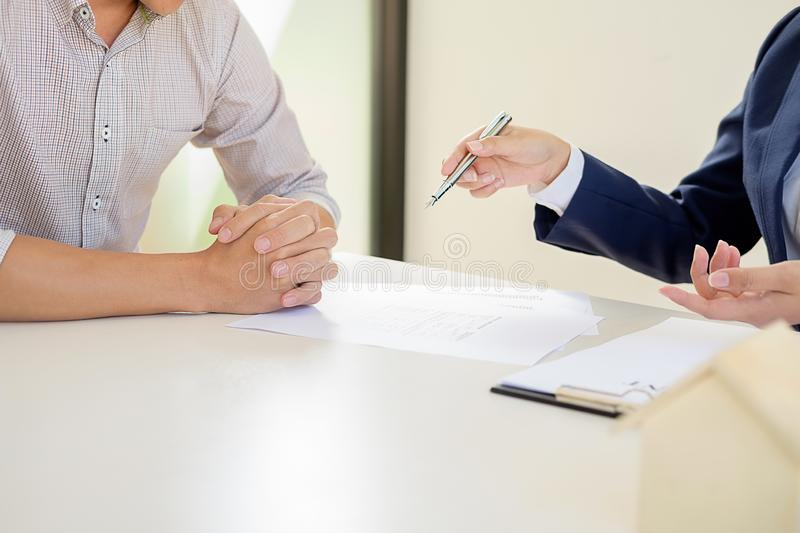 Real estate broker residential listing contract stock images