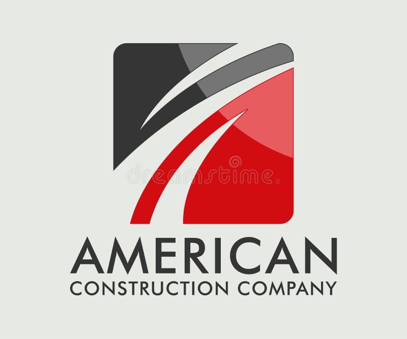 Real Estate, budynku, budowy i architektury loga Wektorowy projekt, royalty ilustracja