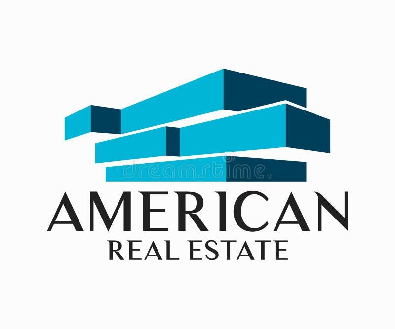 Real Estate, budynku, budowy i architektury loga Wektorowy projekt, ilustracja wektor