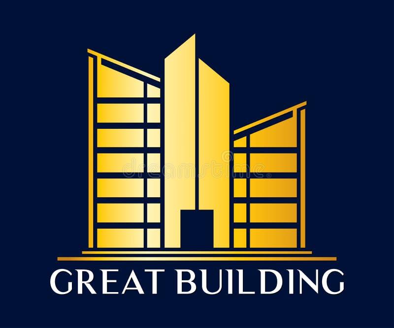 Real Estate, budynku, budowy i architektury wektor Desi, ilustracji