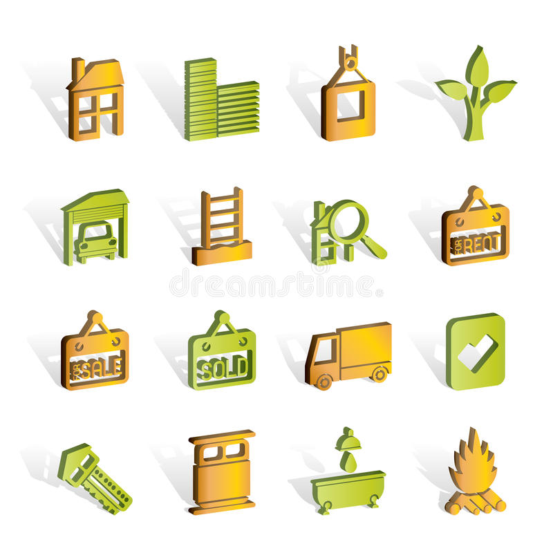 Download Real  Estate And Building Icons Stock Vector - Image: 14389810