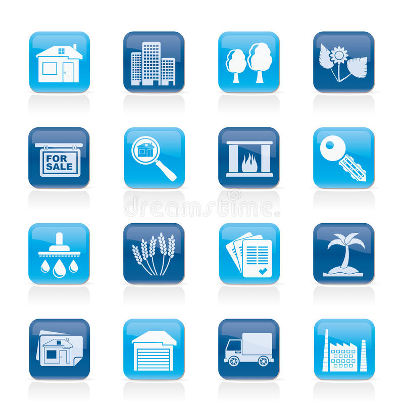 Download Real Estate And Building Icons Stock Vector - Image: 29859333