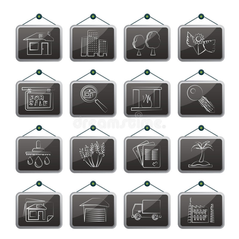 Download Real Estate And Building Icons Stock Vector - Image: 31277312