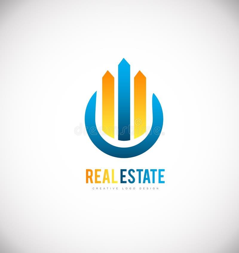 Real estate building skyscraper logo icon design. Real estate building skyscraper vector logo icon sign design template vector illustration