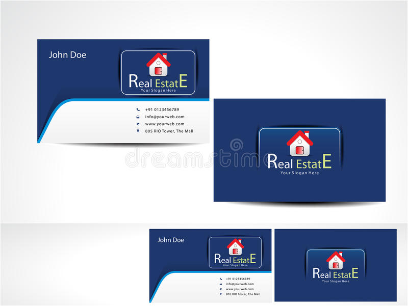 Real Estate Business Card stock vector. Illustration of business ...