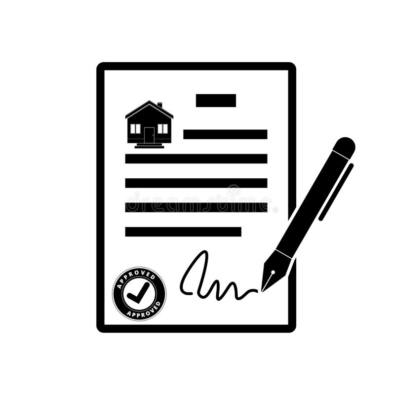 Real estate business contract agreement, simple vector illustration vector illustration
