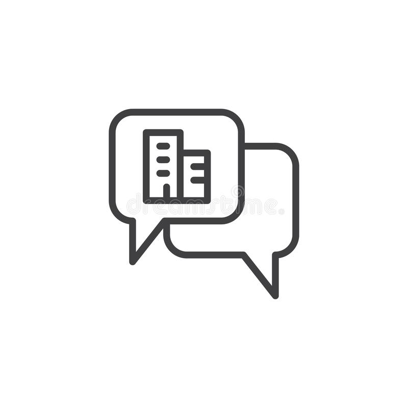Real estate chat outline icon royalty free illustration