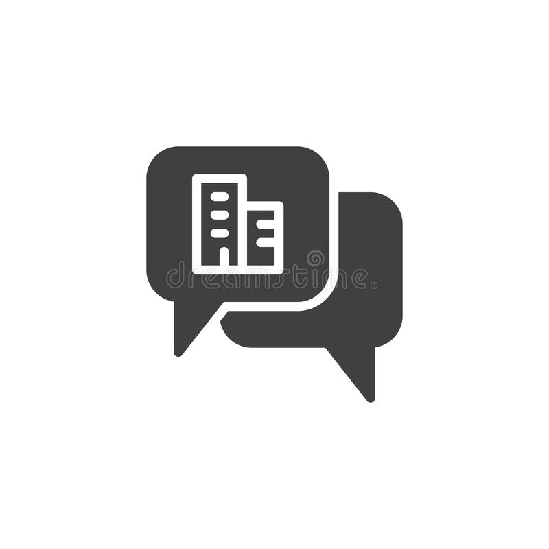 Real estate chat vector icon stock illustration