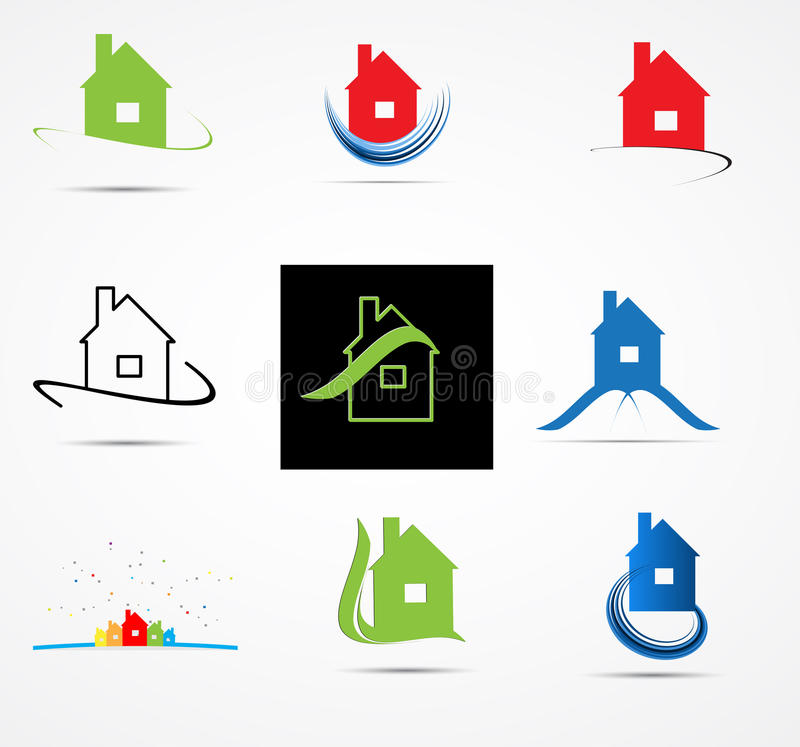 Real Estate City Built House Business Ecology Background Royalty Free Stock Images