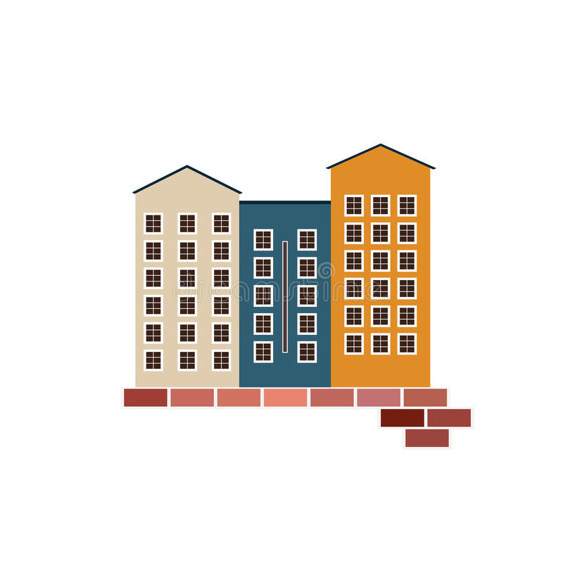 Real Estate Concept. Apartments For Sale / Rent. Real Estate Concept. Cozy Apartments For Sale / Rent royalty free illustration
