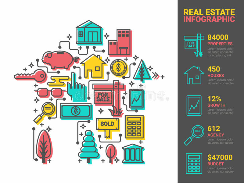 Real Estate Concept stock illustration