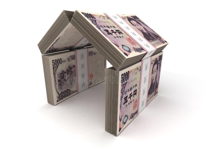 Real Estate Concept Japanese Yen royalty free stock image