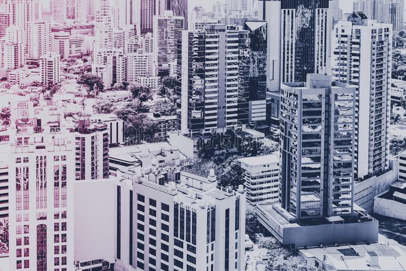 Real estate concept , modern city skyline and skyscraper buildi royalty free stock photography