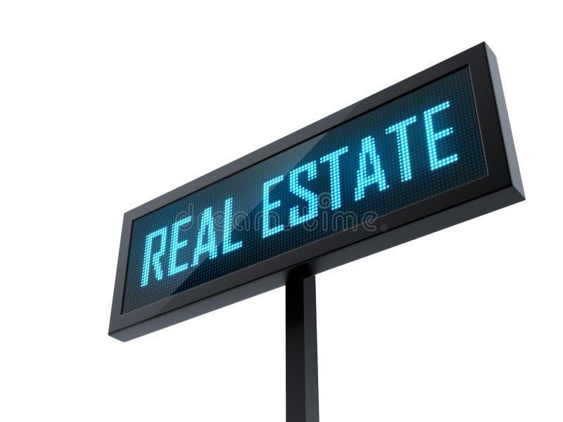 Real Estate conduziu o signage ilustração royalty free