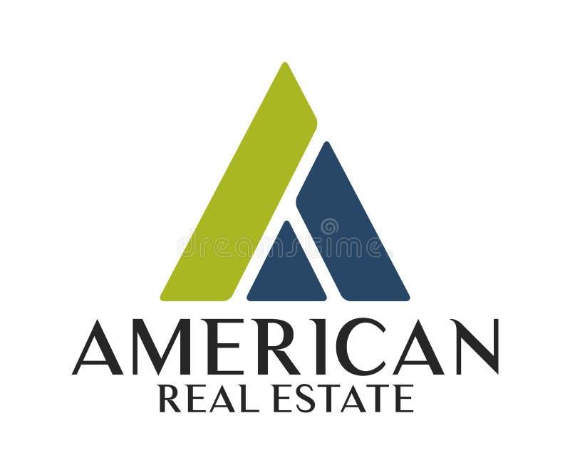 Real Estate, construção, construção e arquitetura Logo Vetora Design ilustração stock