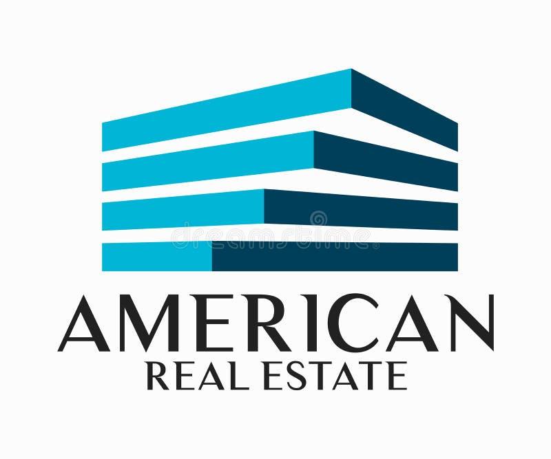 Real Estate, construção, construção e arquitetura Logo Vetora Design ilustração royalty free