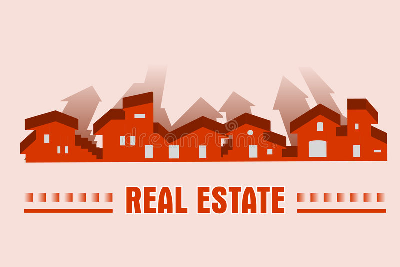 Real estate - construction company royalty free illustration