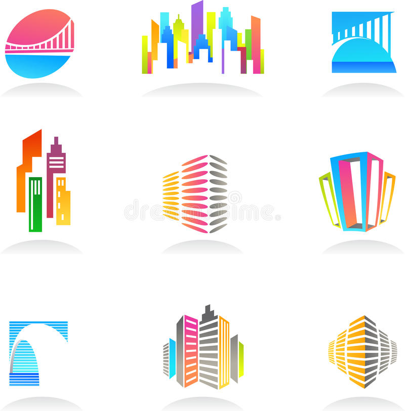 Download Real Estate And Construction Icons / Logos - 2 Stock Vector - Image: 14640255