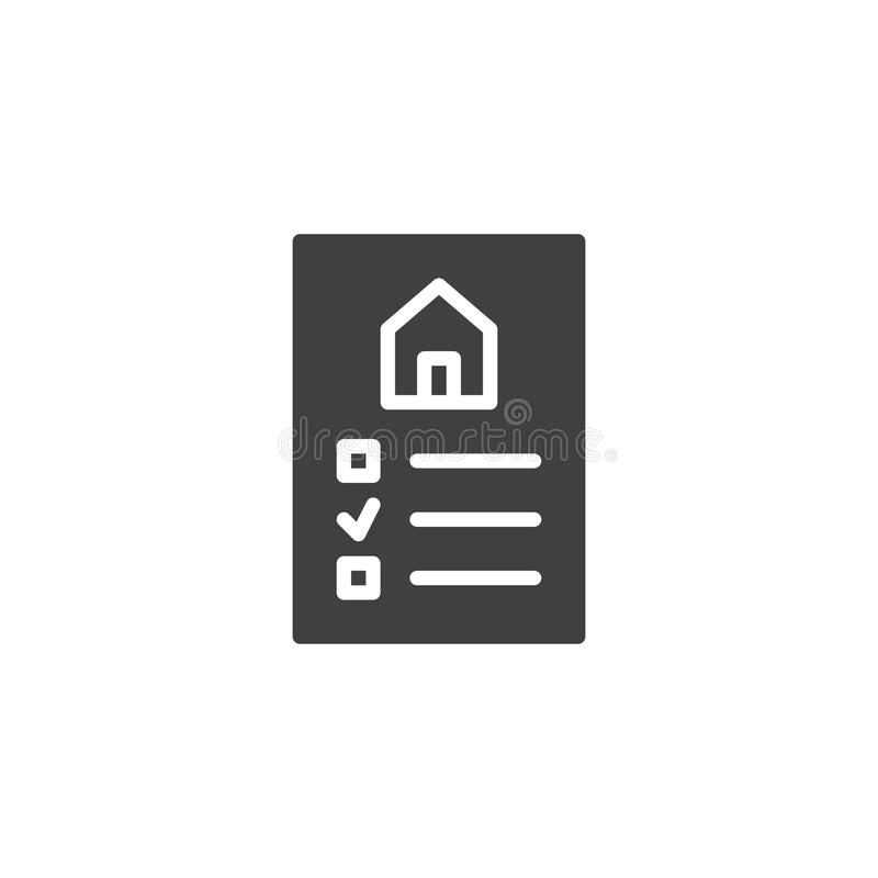 Real estate contract vector icon royalty free illustration