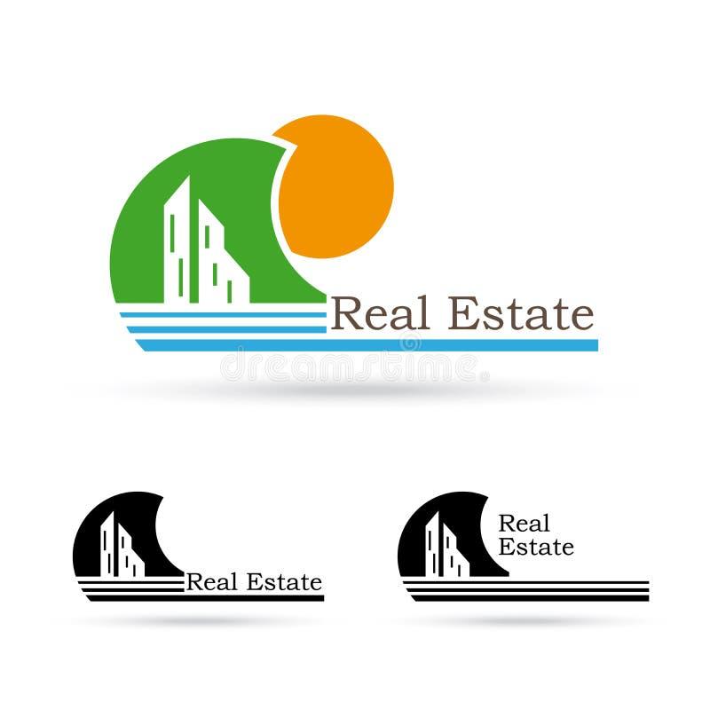 Real estate creative logo design. Template stock illustration
