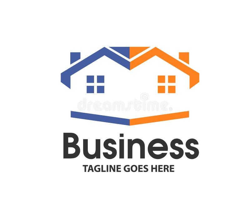 Real Estate creativo, logotipo vecino de la casa ilustración del vector