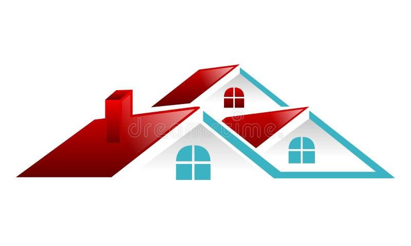 Real Estate-Dakvector vector illustratie