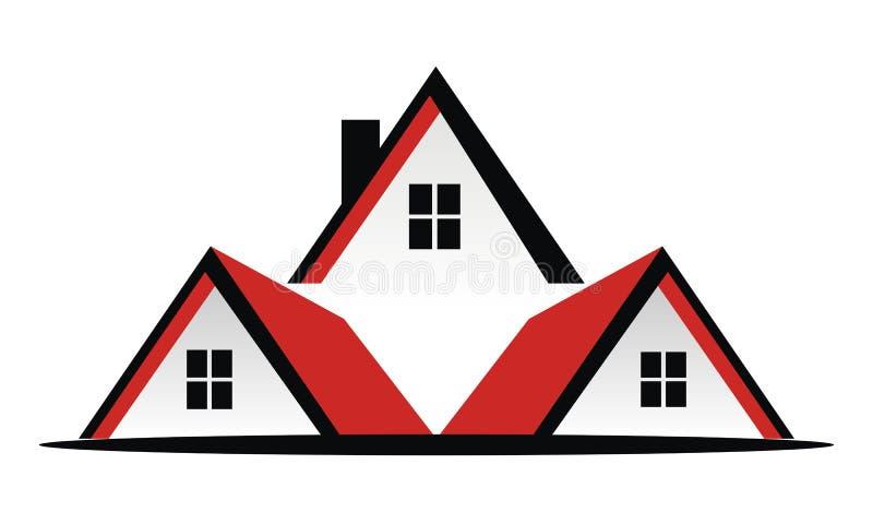 Real Estate-Dakvector royalty-vrije illustratie