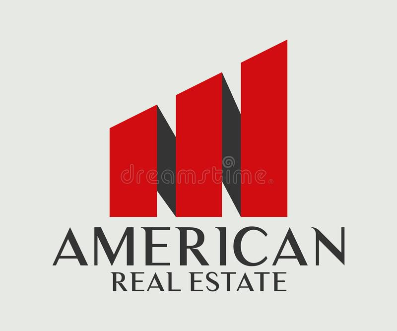 Real Estate, de Bouw, Bouw en Architectuur Logo Vector Design royalty-vrije illustratie