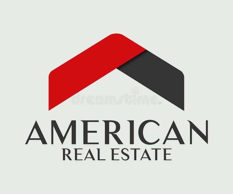 Real Estate, de Bouw, Bouw en Architectuur Logo Vector Design vector illustratie