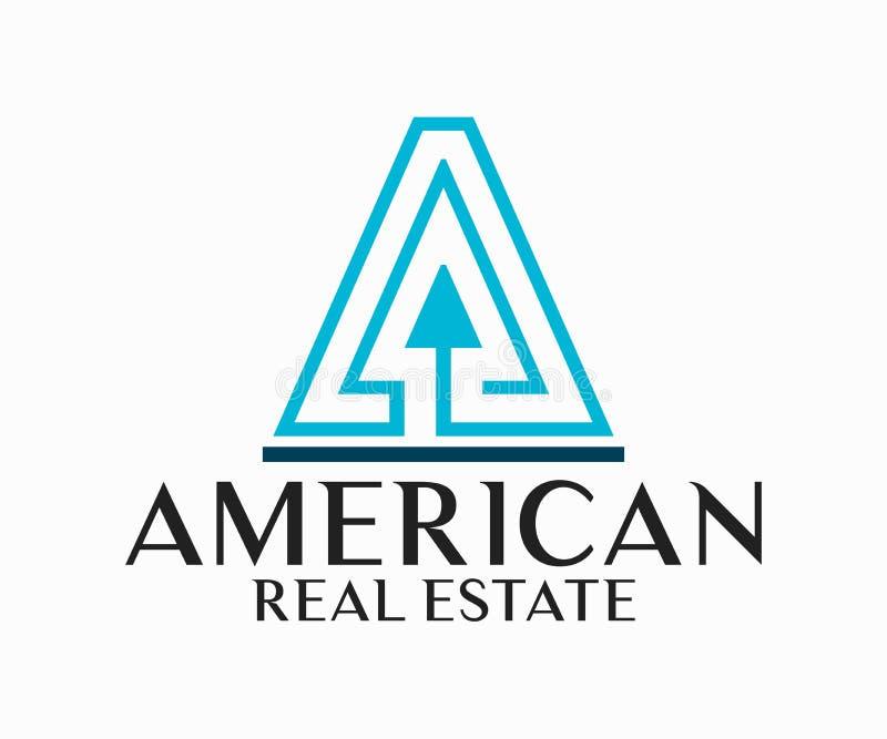 Real Estate, de Bouw, Bouw en Architectuur Logo Vector Design stock illustratie