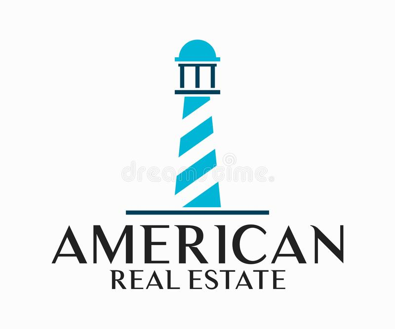 Real Estate, de Bouw, Bouw en Architectuur Logo Vector Design royalty-vrije illustratie