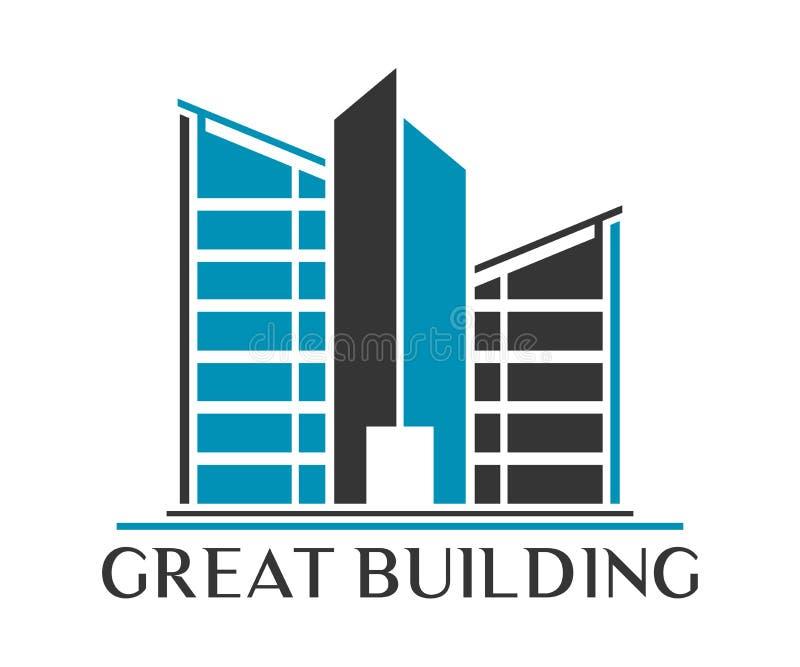 Real Estate, de Bouw, Bouw en Architectuur Vectordesi vector illustratie