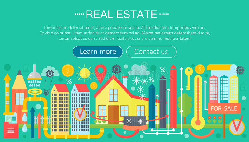 Download Real Estate Design Concept Set With Online Search Apartment Rental  Market Buying Flat Icon Infographics