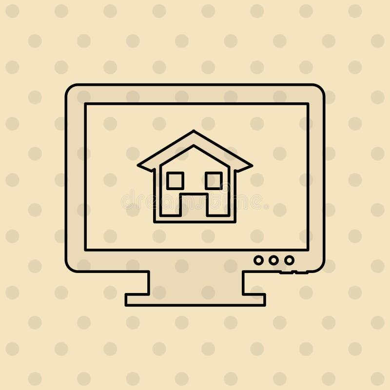 Real estate design. Illustration eps10 graphic stock illustration