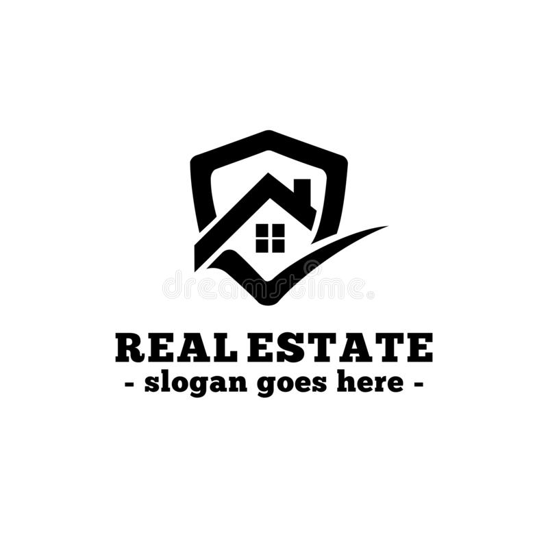 Real Estate Design Template  House Shield Logo Design