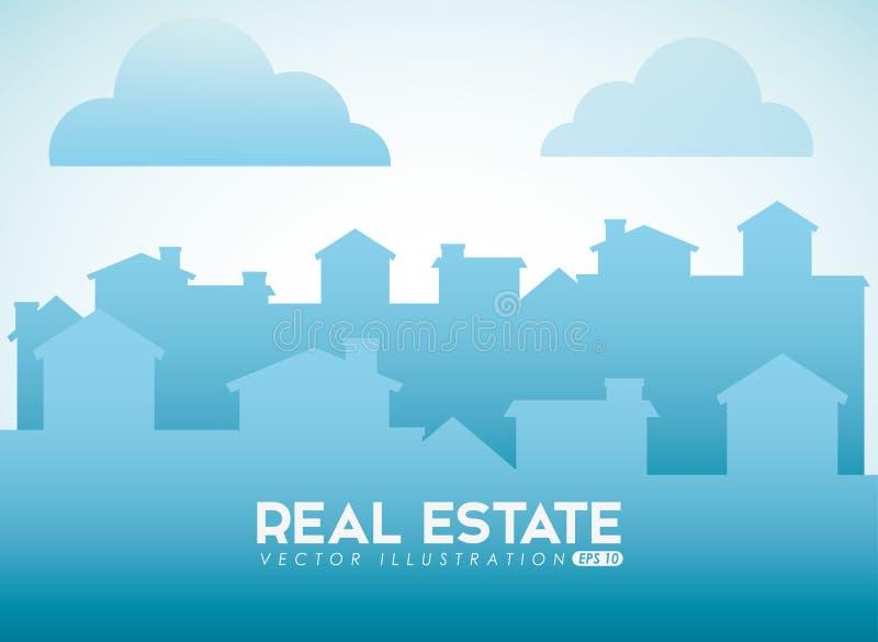 Real estate design royalty free illustration