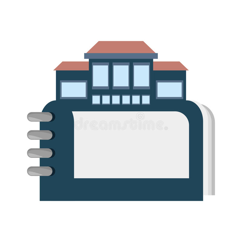 real estate directory catalog symbol royalty free illustration