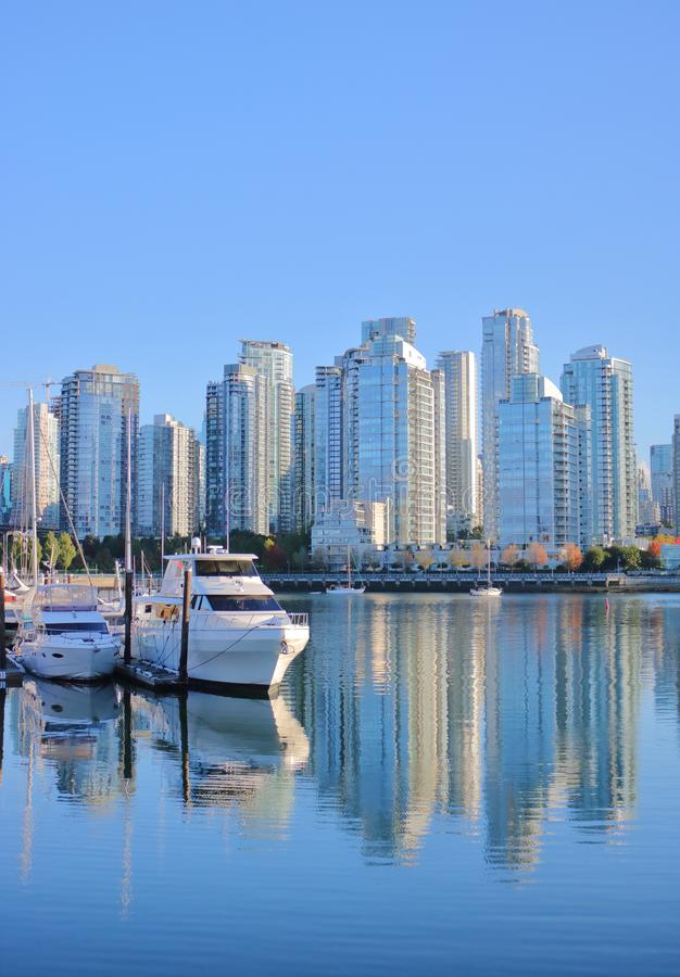 Real Estate in Downtown Vancouver, Canada stock photo
