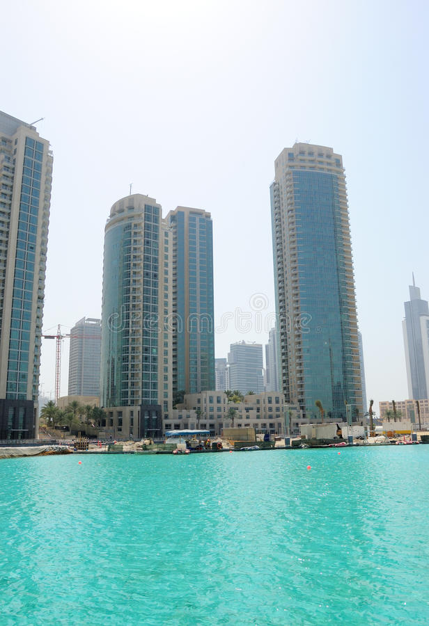Real estate in Dubai downtown royalty free stock image