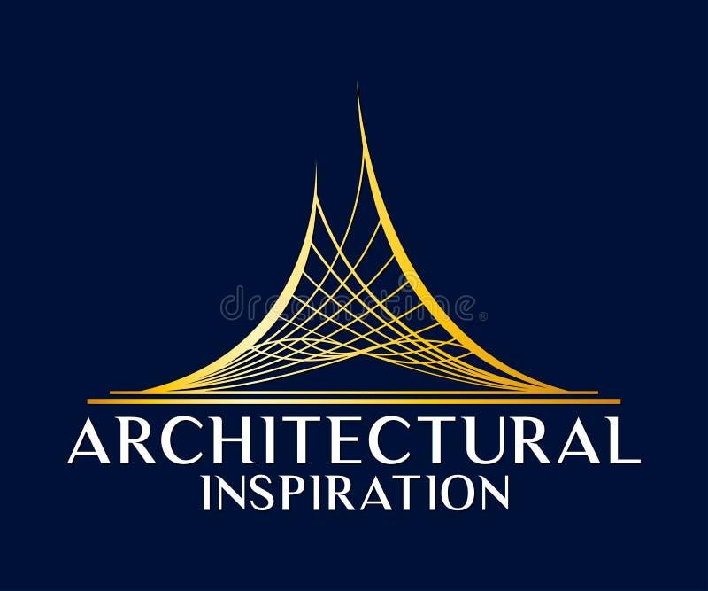 Real Estate, edificio, costruzione ed architettura Logo Vector Design royalty illustrazione gratis