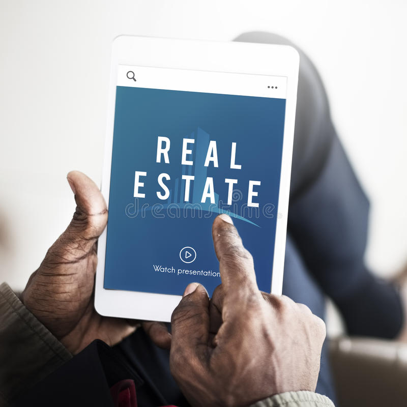 Real Estate-Eigentums-Kauf-Konzept lizenzfreie stockbilder