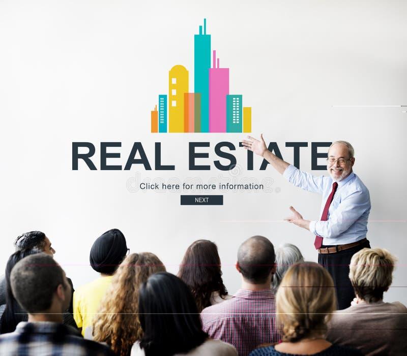 Real Estate-Eigentumsarbeitskonzept stockfotos