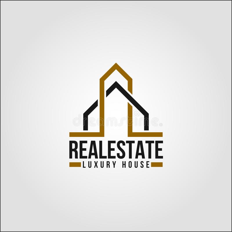 Real Estate - Elte egenskap Logo Template stock illustrationer