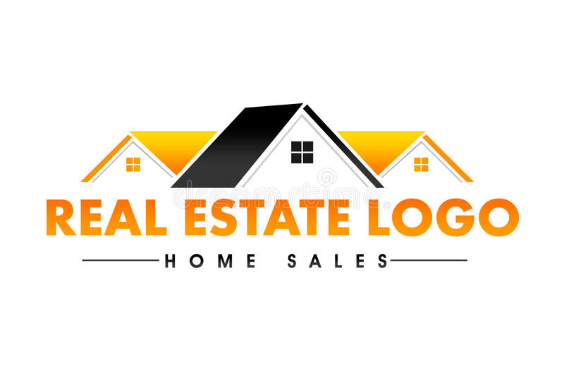 Real Estate-Embleem stock illustratie