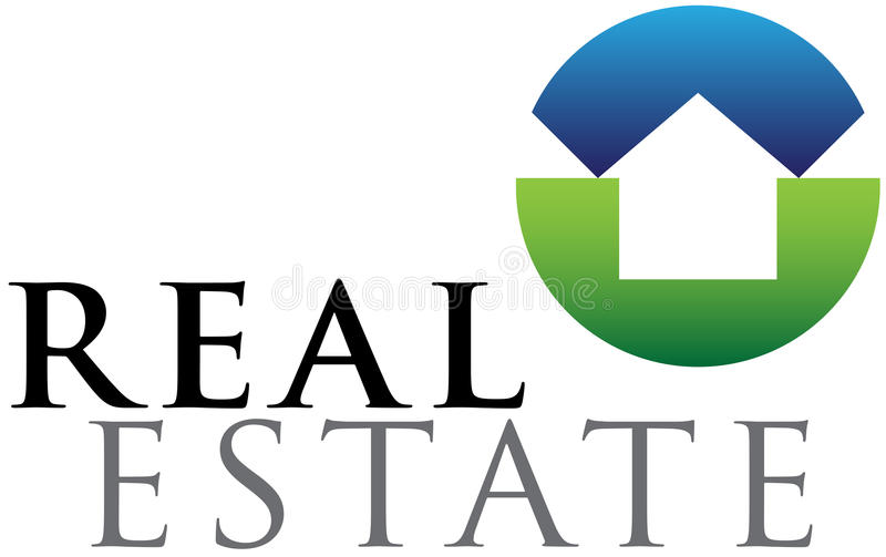Real estate emblem vector illustration