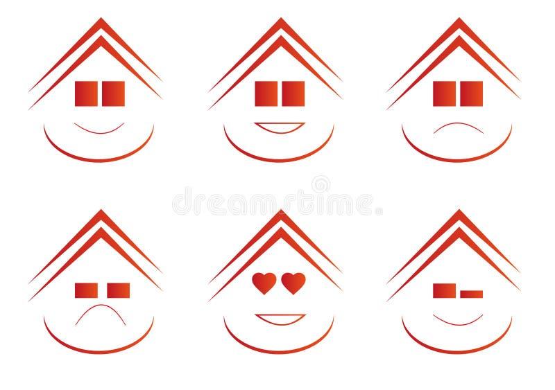 Real Estate Emoticons stock afbeeldingen